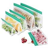 Fstoption Bolsas para Llevar Comida y sándwiches, 6 Pcs Bolsa de Almacenamiento Reutilizable para Fruta Verdura Carne Nevera Cocina Viaje