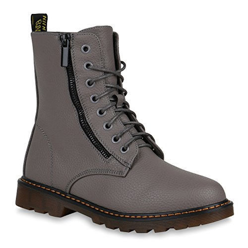 Gefütterte Damen Worker Boots Zipper Outdoor Stiefeletten 148372 -