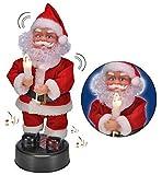 SSITG Tanzender Weihnachtsmann Nikolaus Weihnachtsdekoration Weihnachten Dekofigur