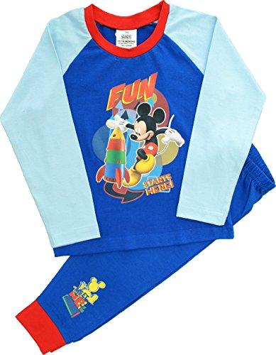 Image of Boys Disney Mickey Mouse Snuggle Fit Pyjamas Size 2-3 Years
