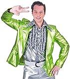 Disco Fever Metallic Kostüm Jacke für Herren - Neongrün Gr. 52/54