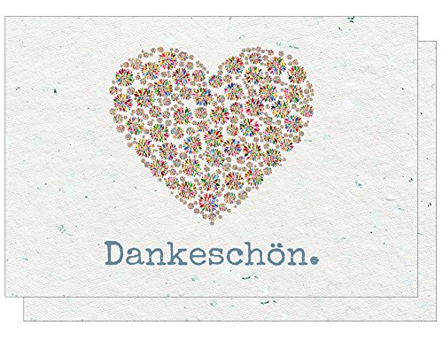 Dankeskarten - Dankeschön, Danksagung nach Hochzeit, Geburtstag, Konfirmation u.v.m. : 20 Karten mit 20 Umschlägen.