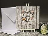 Hochzeitseinladungen 10 Stück incl. Umschlag und Einlegeblätter 10033 altrosa