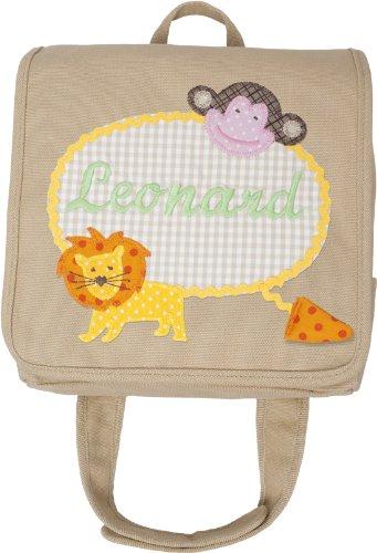 Kindergartentasche mit Namen und Kinderrucksack mit Namen (Motiv Apfel) Motiv Leonard