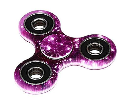 Preisvergleich Produktbild Tri Fidget Hand Spinner Stress Reducer Dreieck Metall Finger Focus Gyro Spielzeug für Kinder / Erwachsene (Lila)