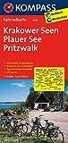 Krakower Seen - Plauer See - Pritzwalk: Fahrradkarte. GPS-genau. 1:70000