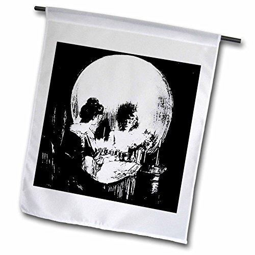 3dRose FL_18238_1 Gartenflagge Halloween, Optische Illusion, 30,5 x 45,7 ()