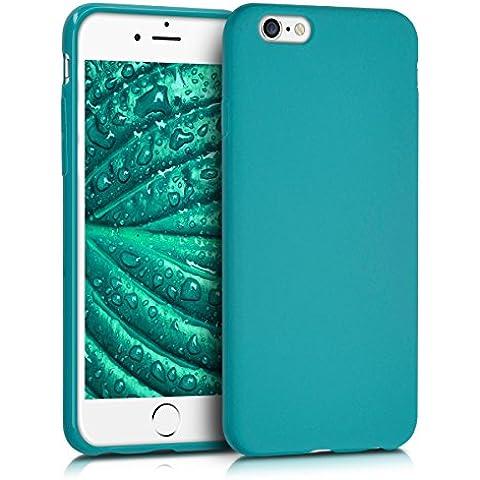 kwmobile Funda de TPU silicona chic para el Apple iPhone 6 / 6S en petróleo mate