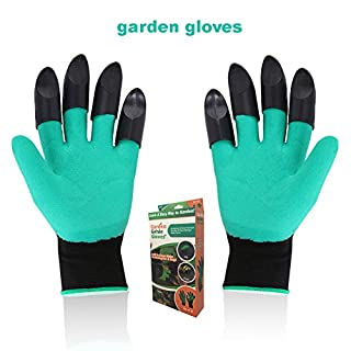 Garden Genie Gloves with Claws on EACH Hand Waterproof Digging Gloves for Gardening and Planting by ACRESS