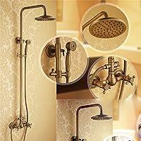 SKBE ducha de cobre antiguo todo el baño grifo de ducha cabeza de ducha conjunto ducha caliente y fría retro