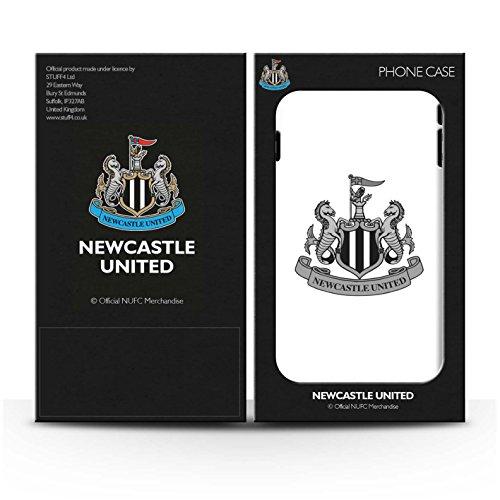 Officiel Newcastle United FC Coque / Clipser Brillant Etui pour Apple iPhone X/10 / Mono/Bleu Design / NUFC Crête Football Collection Mono/Blanc