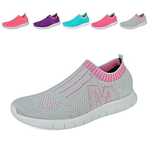QANSI Damen Sportschuhe Laufschuhe Wasserschuhe Strandschuhe Atmungsaktiv Schnell Trocknend Sneaker Aqua Schuhe
