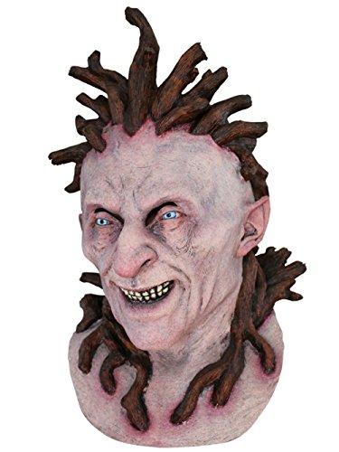 Glitter Ball Kostüm Dress Fancy - Scary Halloween Latex Head & Neck Mask Tree Wizard Top Qualität realistisch