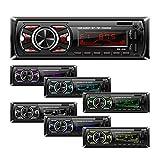 Wekold 7-Farben-Hintergrundbeleuchtung Autoradio Universal Stereo Autoradio Einzel-Din-Empfänger Bluetooth MMC/USB/SD/AUX/FM-Player Freisprechen 4 Kanäle Lenkradfernbedienung Telefongebühr