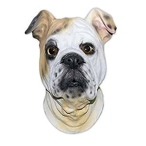 shoperama Hunde Latex-Maske BULLDOGGE Lebensmittelqualität Tier Dog