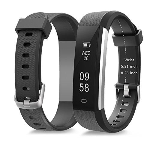 moreFit Slim 2 Fitness Tracker Bluetooth Smart Armband Uhr Touchscreen Schrittzähler Armband mit Schnalle für iphone 8/7/7 Plus / 6 / Samsung S8 / Galaxy / IOS / Android, Schwarz - 4
