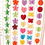 #8: Futurekart Balloon Junction 3D Party Decoration Paper Garland 3 in 1 Set (Multicolor)