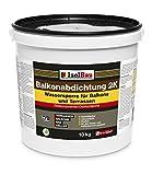 Isolbau 10kg Balkonabdichtung Dichtschlämme 2-K Abdichtung Terrasse Balkone Bad Keller Dusche