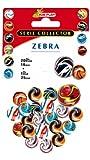 Kim'Play 9034 – Juegos al Aire Libre y Deportes, 20 bolas + 1 Calot Zebra