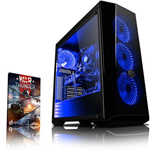 Vibox Genesis GR350T-3 Dekstop PC da Gaming, Processore Ryzen 3-1300X, HDD da 1000 GB, RAM da 8 GB, Nvidia Geforce GTX 1050 Ti, Azzurro