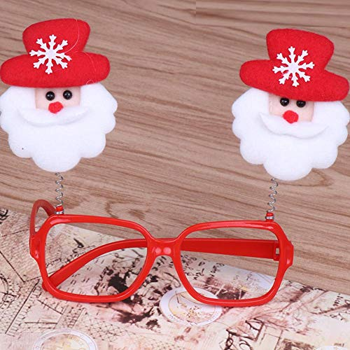 APSAMBR-1 Pcs Christmas Eyeglasses/Goggles Glitterl Merry Christmas Xmad Party Accessories Props Party Favors Adult and Kids Christmas Gift for Kids