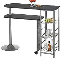 LA TABLE DE BAR JOSUA... vous permettra de disposer d'une table confortable pour prendre votre petit déjeuner ou dîner, même dans une petite cuisine. La tablette inférieure se déplace afin de vous offrir une deuxième surface de travail en fonction de...
