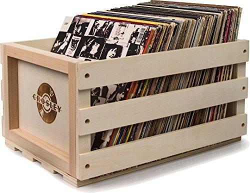 Crosley Schallplatten-Ständer im Rustikalen Holzkiste-Design - Natur Crosley Elektronik