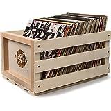 Crosley Schallplatten-Ständer im Rustikalen Holzkiste-Design - Natur