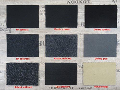Alpha-Tex Autoteppich Meterware zur Auskleidung oder als Kofferraumteppich in beliebiger Größe - selbst zuschneidbar, Qualität Tigra schwarz (1,5m x 2m Breite) -