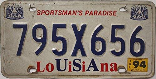 USA Nummernschild LOUISIANA ~ US Kennzeichen License Plate ~ KFZ Blechschild / Farbgebung ROT und BLAU
