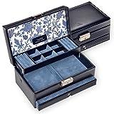 Sacher porta gioielli di Helen/blu/fatto a mano in Germania