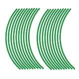 JOllify NEON Felgenrandaufkleber für dein Fahrrad, MTB, Downhill, Freeride, Dirt, Fully, Hardtail, usw. - neon grün