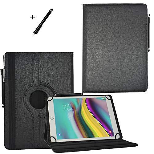 JP-WELT Tablethülle für Denver TAQ-10182 Schutzhüllen Tablet Case Tasche Hülle - 10.1 (10.5) Zoll Schwarz