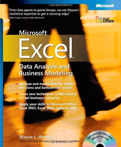 Microsoft® Excel Data Analysis and Business Modeling (Bpg-Other) por Wayne L. Winston