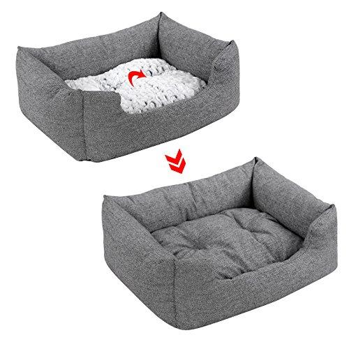 Songmics Hundebetten innenkissen Beidseitig Verwendbar mit unten einen Anti-Rutschboden 80 x 60 x 26 cm PGW26G - 4