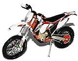alles-meine.de GmbH K-T-M 350 EXC-F Six Days Italien Weiss 2014 Enduro 1/12 K-T-M Modell Motorrad mit individiuellem Wunschkennzeichen