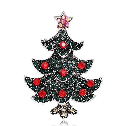 Olydmsky Broche Bijoux Brosche Weihnachtsbaum Brosche Legierung Diamant überzogene Antike Gold Und Silber Brosche