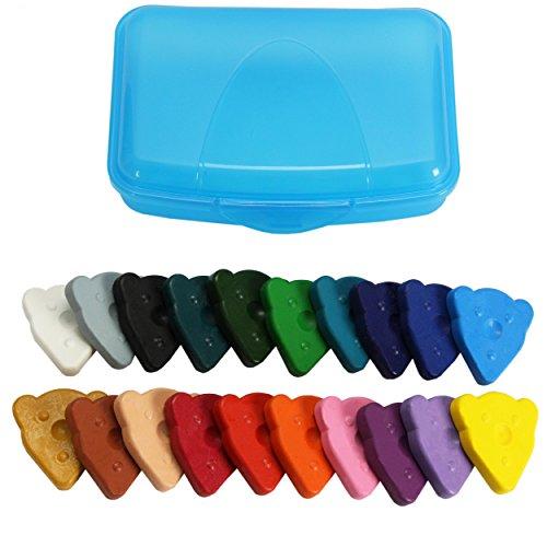 Wachsmalsteine Teddy, 20 Stück Großpackung ✓ Set beinhaltet farbenfrohe Wachsmaler ✓...