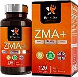 ZMA+ (zinco, magnesio e vitamina B6) - 125 mg per porzione | INTEGRATORE TESTOSTERONE UOMO BOOSTER IMMUNITARIO | 120 capsule gel - 1 mese di fornitura