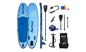 Aquaplanet 10ft Allround Stand Up Paddleboard - Complete Beginner's Kit. Includes Hand Air Pump With Pressure Gauge, Adjustable Aluminium Floating Paddle, Repair Kit, Heavy Duty Carry Rucksack & Premium SUP Coiled Leg Leash & 4 Kayak Seat Ring Fittings.