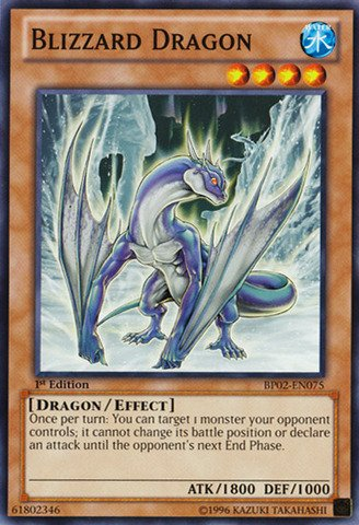 Yu-Gi-Oh! - Blizzard Dragon (BP02-EN075) - Battle Pack 2: War of the Giants - 1st Edition - Common - Blizzard Yugioh