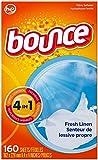 Bounce Dryer Sheets, Fresh Linen 160 Trockentücher - aus USA