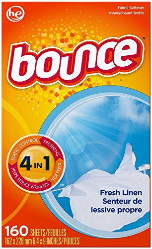 Bounce Fresh Linen Fabric Softener Sheets 160 Count by Bounce (English Manual)