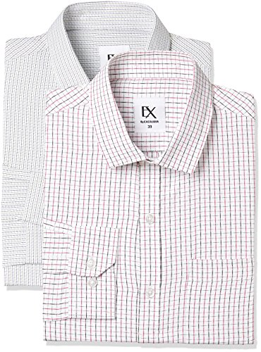 Excalibur by Unlimited Men's Solid Regular Fit Formal Shirt (Pack of 2) (275368832 ASSORTED 42)