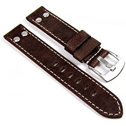 Minott Replacement Watch Strap Vintage Look Leather Band 18 mm 756 – 18 mm