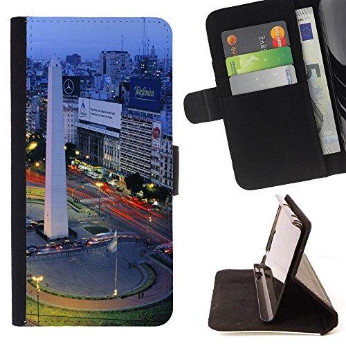 FJCases Buenos Aires Argentinien Postkarte Ansicht Tasche Brieftasche Hülle Schale Standfunktion Schutzhülle für LG Ray