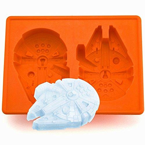 Star Wars Millenium Falke Gussformen - Eiswürfelform 100{3244039abaf1dbec24ac402789a1e92952687d6b0d19a12ec204f48331a73e9a} Lebensmittelsilikon- BPA frei- FDA-zugelassen   Eiswürfel Schokolade Süßigkeiten Götterspeise   3D Silikonform Spielzeug für Kinder Set Bayram