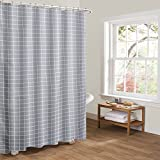 Anself Htovila 72 * 72'' 100% Polyester Decorative Privacy Protection Bathroom Curtain Waterproof Mold-Proof Anti-Bacterial Shower Curtain with 12pcs Hooks
