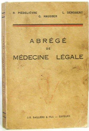 Abrégé de médecine légale