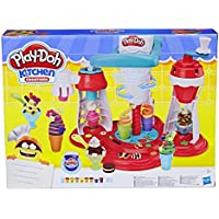 Play-Doh Kitchen Creations Ultimate Swirl Ice Cream Maker Play Food Set with 8 Non Toxic Colours